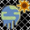 Heatwave Global Warming Icon