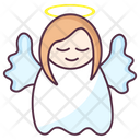 Heaven Angel Cartoon Character Blessed Angel Icon