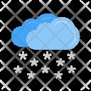 Heavy Snowing Cloud Icon