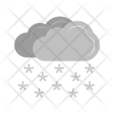 Heavy Snowing Snowflake Icon