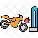 Heavy Bike Collision Flame Accident Bike Icon