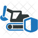 Heavy Equipment Insurance Equipment Icon