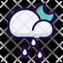 Night Rain Rainy Icon