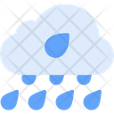 Heavy Rain Weather Winds Icon