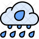Heavy Rain Weather Winds Icon