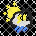 Heavy Rain Rainstorm Cloud Icon