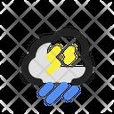 Heavy Rain Cloud Storm Icon