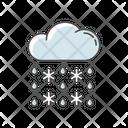 Heavy Snow Sleet Icon