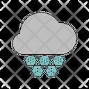 Heavy Snowfall Icon