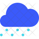 Heavy Snowfall Weather Cloud Icon