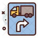 Heavy Vehicle Right Side Right Road Right Side Icon