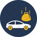 Heavy Weight On Car Accident Automobile Icon