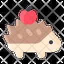 Spring Hedgehog Animal Icon