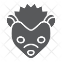Hedgehog Pet Face Icon
