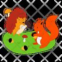 Hedgehog And Squirrel Icon