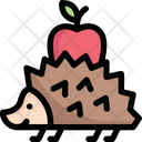 Hedgehog With Apple Icon