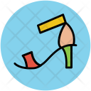 Heel Sandal Woman Icon