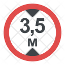Height Limit Sign Icon