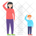 Height Measurement Motherhood Height Growth Icon