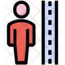 Justice Height Scale Icon