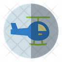 Helicopter Chopper Transportation Icon