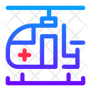 Helicopter Medical Health Icon