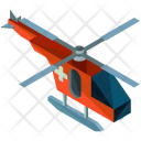 Helicopter Transportation Isometric Icon