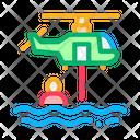 Helicopter Rescue Sea Icon