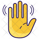 Hello Hand Wave Bye Gesture Icon