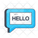 Hello Message Text Communication Icon
