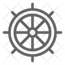 Helm Ship Wheel Icon