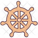 Helm Rudder Ship Wheel Icon