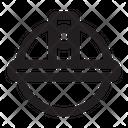 Helmet Construction Worker Icon