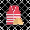 Helmet Jacket Worker Icon