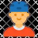 Helmet Skate Boy Icon