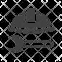 Construction Tools Helmet Icon