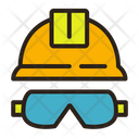 Helmet  glasses Icon