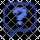 Button Question Speech Bubble Icon
