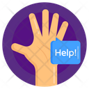 Non Verbal Communication Help Hand Icon