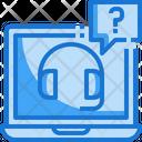 Help Laptop Online Icon