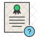 Help Info Certificate Icon