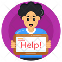 Help Banner Help Placard Help Board Icon