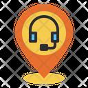 Customer Service Pin Location Icon