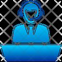 Help Desk Front Desk Reception Icon