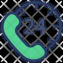 24 Hr Helpline Customer Service Call Center Icon