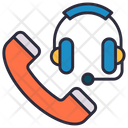 Call Center Customer Support Emergency Service Icon
