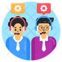 Customer Services Csr Helpline Management Icon