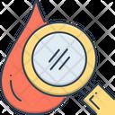 Hematology Drop Magnifier Icon