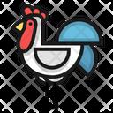 Chicken Livestock Cattle Icon