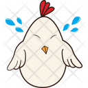 Hen Crying Icon